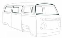 Joints de carrosserie Vw Bus 68-79