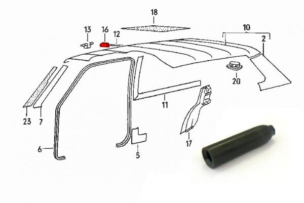 Ciels de toit - sellerie habillages intérieur - VW Golf 1