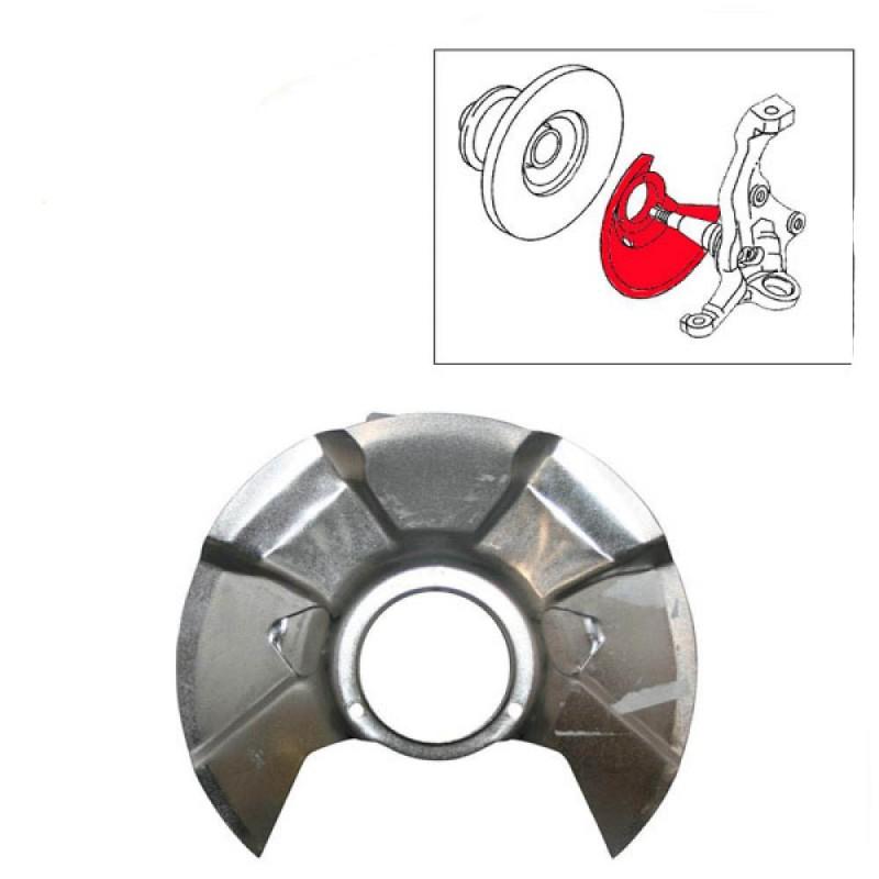 Flasque anti-poussière de disque avant Transporter 82 ->86