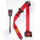 Ceinture de sécurité 3 points rouge à enrouleur, homologuée