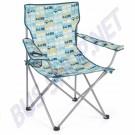 Chaise pliante avec accoudoirs et porte boisson Combi bleu | dream-machine.fr
