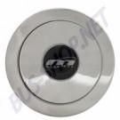Bouton de klaxon aluminium poli pour moyeu Mountney