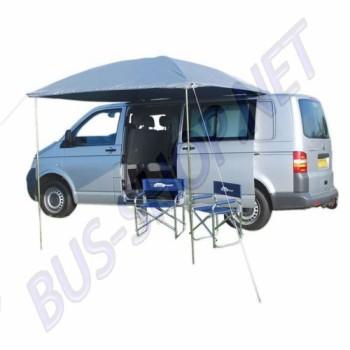 Auvent argenté Résistant aux UV pare-soleil conçu pour les voitures classiques et des camionnettes avec des gouttières.