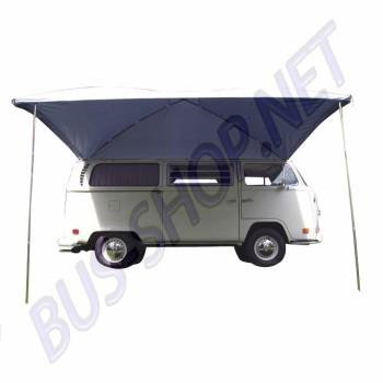 Auvent large argenté Résistant aux UV pare-soleil conçu pour les voitures classiques et des camionnettes avec des gouttières AC898005 | Dream-Machine.fr