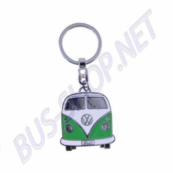 Porte clés Combi vert avec sa boite en métal