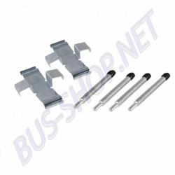 Kit de montage des plaquettes dans les étriers avant pour Combi 70 ->72 étriers de frein avant ATE.