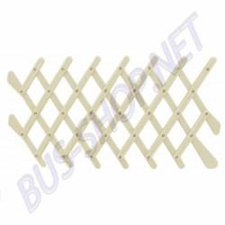Grille d'aération rétro couleur ivoire pour vitre de porte